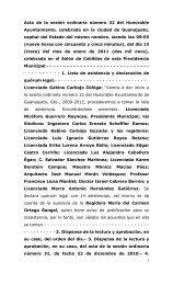 Acta de la sesión ordinaria número 32 del Honorable ... - Guanajuato