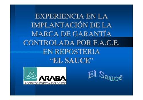 Experiencia en la implantación de la marca de garantía controlada ...