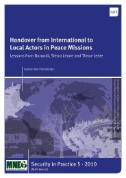Handover from International to Local Actors in Peace Missions - Nupi
