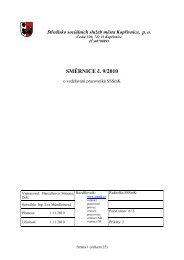 SMĚRNICE č. 9/2010 - Středisko sociálních služeb Kopřivnice