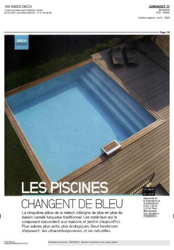 CHANGENT DE BLEU - Piscinelle
