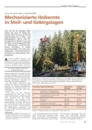 Mechanisierte Holzernte in Steil- und Gebirgslagen - WSL