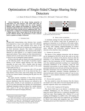 Optimization of Single-Sided Charge-Sharing Strip Detectors