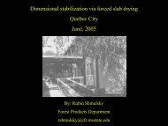 Dimension Stablilization via Forced Slab Drying