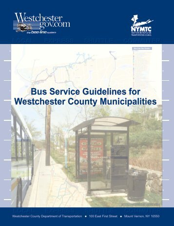 Bus Service Guidelines for Westchester County Municipalities
