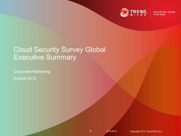 Cloud Security Survey Global Executive Summary
