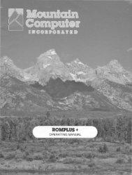 Mountain Computer ROMPlus+ Operating Manual
