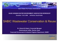 SABIC Wastewater Conservation & Reuse - Saudi Arabian Water ...