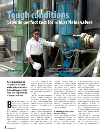 Tough conditions provide perfect test for robust Neles valves - Metso