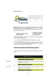 18 OCTOBRE 2010 565 PROCÈS-VERBAL DE ... - Ville de Bromont