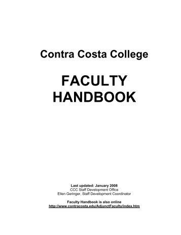 fac-handbook08 - Contra Costa College