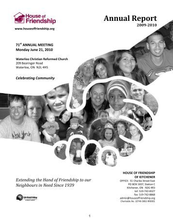 Annual Report - House of Friendship