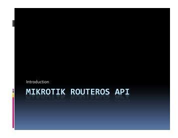 MIKROTIK ROUTEROS API - MUM