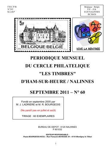 Bulletin n°60 septembre 2011 - les Timbres