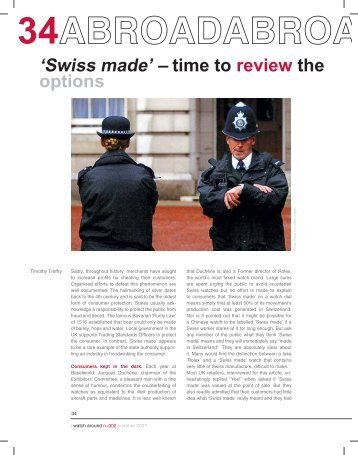'Swiss made' – time to review the options - Watch Around