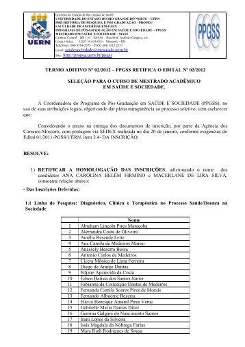 termo aditivo nº 02/2012 - UERN