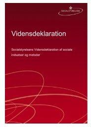 Vidensdeklaration - Socialstyrelsen