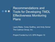 Designing Effectiveness Monitoring Plans for TMDLs ... - NEIWPCC