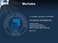 Pamukkale Üniversitesi IPv6 Geçiş Tecrübeleri - Ulakbim