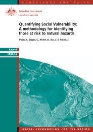 Quantifying Social Vulnerability: A methodology for ... - EarthByte