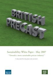 Sustainability White Paper - May 2007 - British Precast