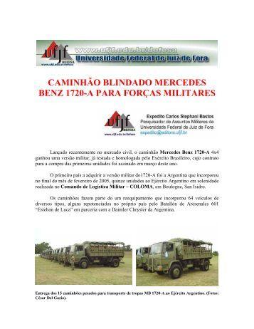 caminhão blindado mercedes benz 1720-a para ... - UFJF /Defesa