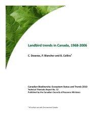 Landbird trends in Canada, 1968-2006 - Species at Risk