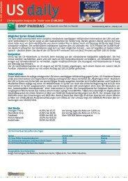 Die kompakte Analyse für Trader vom 27.08.2013 ... - BNP Paribas