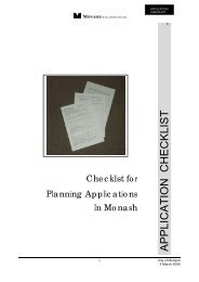Checklist for Planning Applications - City of Monash