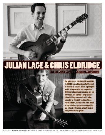 Julian Lage & Chris Eldridge One Sheet - Ted Kurland Associates