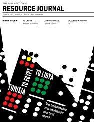 TUNISIA - The International Resource Journal