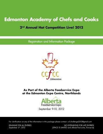 Edmonton Academy of Chefs and Cooks - CCFCC - Edmonton