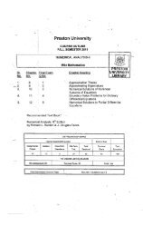 Numerical Analysis - II - Preston University