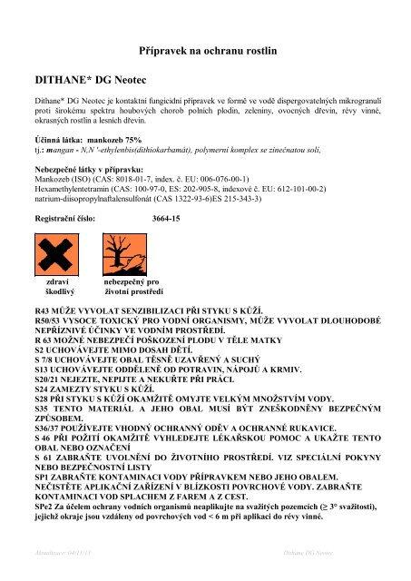 dithane dg neotec.pdf - VP Agro