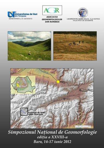 Studiul proceselor geomorfologice generatoare de instabilitate din ...