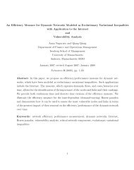 An Efficiency Measure for Dynamic Networks Modeled as ...