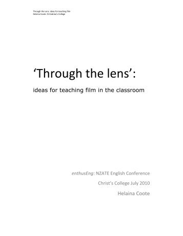 Through the lens - Literacy Online