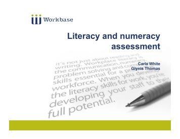 Workbase LN assessment presentation - Industry Training Federation