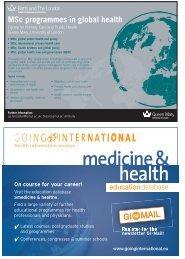 MSc programmes in global health - Africa Health