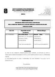 ISTITUTO ZOOPROFILATTICO SPERIMENTALE ISTITUTO ...