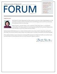 Analysis Group Forum, Summer 2013