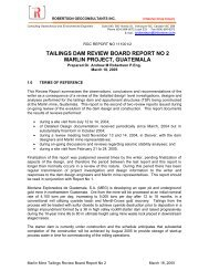 Marlin Tailings dam Review Board Report No 2 - Goldcorp