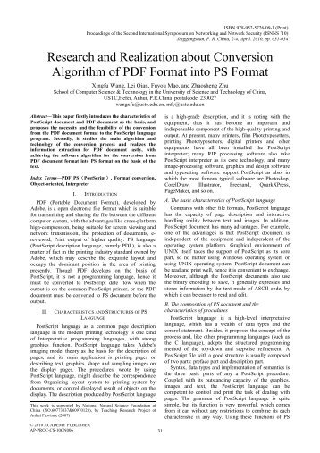 Research and Realization about Conversion Algorithm of PDF ...
