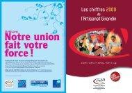 Les chiffres 2009 de l'Artisanat Girondin - Chambre de métiers et de ...