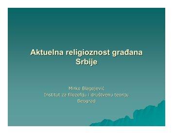 Aktuelna religioznost građana Srbije