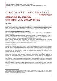 CIRCOLARE INFORMATIVA OPERAZIONE ... - FASSID