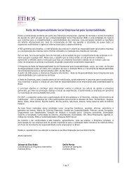 Rede de Responsabilidade Social Empresarial pela ... - Instituto Ethos