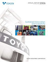 Sustained Innovation and Creativity - Toyota Industries Corporation