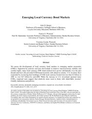 Emerging Local Currency Bond Markets - Macro/Finance Group at ...