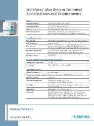 WalkAway plus Technical Specifications [41 KB] - Siemens Healthcare